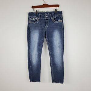 Maurices Premium Distressed Capri Jeans